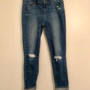 """Paige Verdugo ankle distressed jeans 27"""" inseam"""